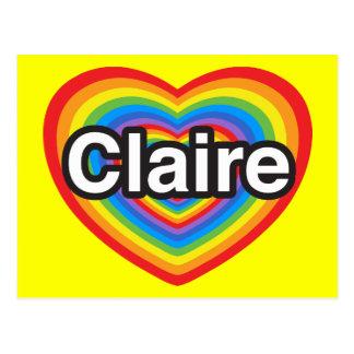 I love Claire. I love you Claire. Heart Postcard