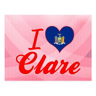 I Love Clare, New York Postcards