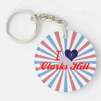 I Love Clarks Hill, Indiana Acrylic Keychain