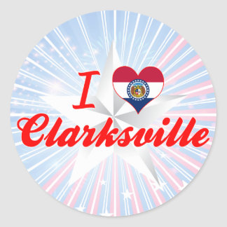 I Love Clarksville Missouri Sticker