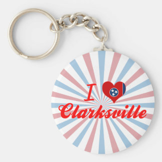 I Love Clarksville, Tennessee Key Ring