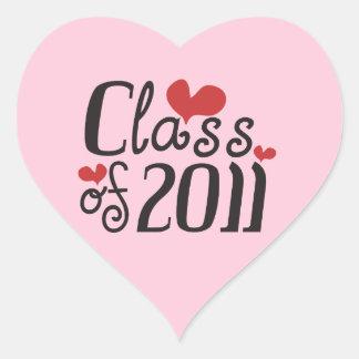 I Love Class of 2011 Heart Sticker