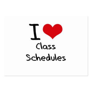 I love Class Schedules Business Card Template