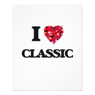 I love Classic 11.5 Cm X 14 Cm Flyer