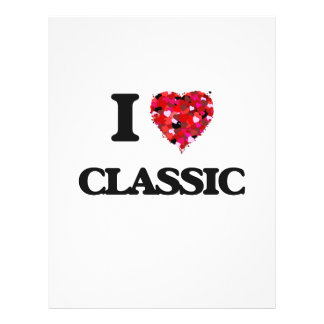 I love Classic 21.5 Cm X 28 Cm Flyer