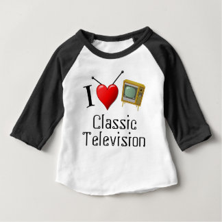 I Love Classic Television Baby T-Shirt