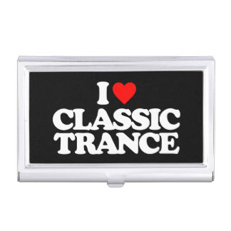 I LOVE CLASSIC TRANCE BUSINESS CARD CASE