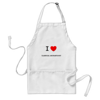 I Love CLASSICAL ARCHAEOLOGY Standard Apron