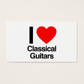 i love classical guitars business card