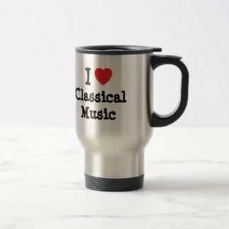 I love Classical Music heart custom personalized Mugs