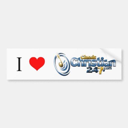 I Love ClassicChristian247.com Bumper Sticker
