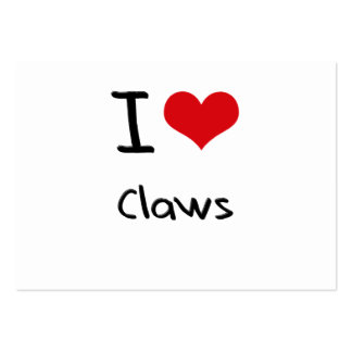 I love Claws Business Card Template