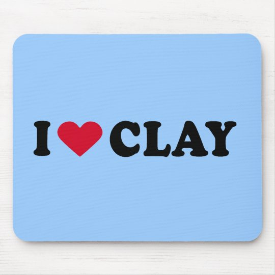 I LOVE CLAY MOUSE MAT
