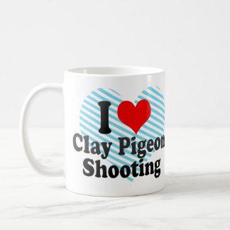 I love Clay Pigeon Shooting Basic White Mug