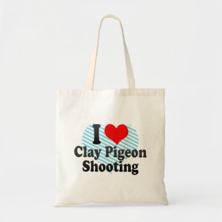 I love Clay Pigeon Shooting Budget Tote Bag