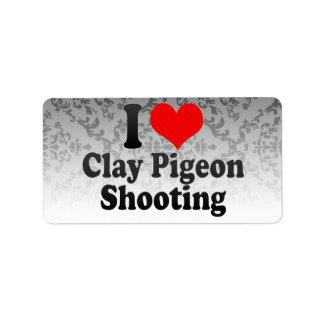 I love Clay Pigeon Shooting Address Label