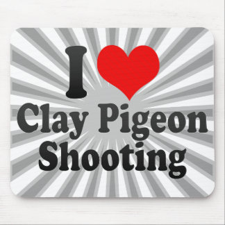I love Clay Pigeon Shooting Mouse Mat