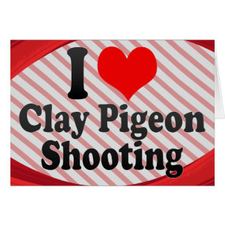I love Clay Pigeon Shooting Note Card