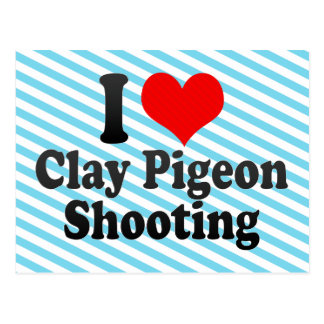 I love Clay Pigeon Shooting Post Card