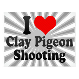 I love Clay Pigeon Shooting Postcard