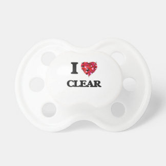 I love Clear Baby Pacifier
