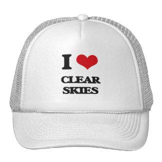 I love Clear Skies Hats