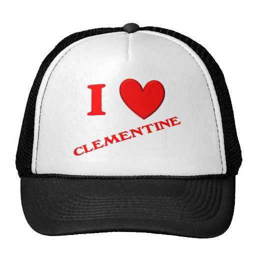 I Love Clementine Mesh Hats