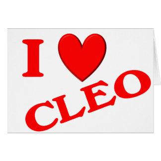 I Love Cleo Greeting Cards