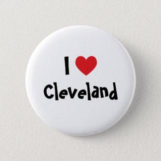 I Love Cleveland 6 Cm Round Badge