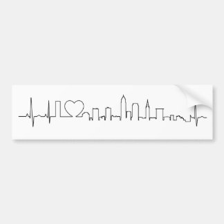 I love Cleveland in an extraordinary ecg style Bumper Sticker