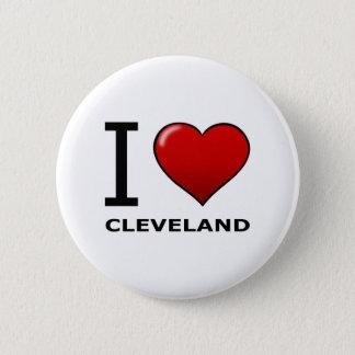 I LOVE CLEVELAND, OH - OHIO 6 CM ROUND BADGE