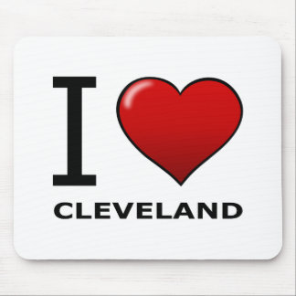 I LOVE CLEVELAND, OH - OHIO MOUSE MAT