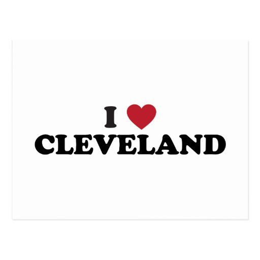 I Love Cleveland Ohio Postcards