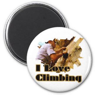 I Love Climbing Crimp Refrigerator Magnets