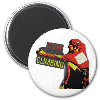 I Love Climbing Gaston Fridge Magnets