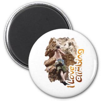 I Love Climbing Go Climb 6 Cm Round Magnet