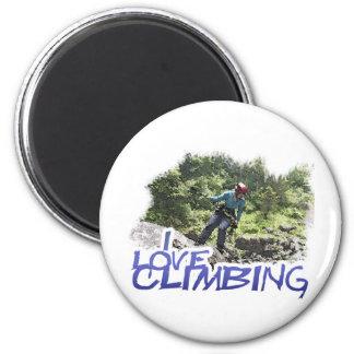 I Love Climbing Hang Dog Magnet