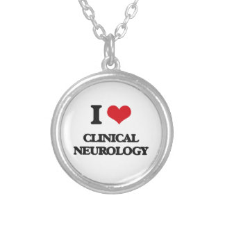 I Love Clinical Neurology Silver Plated Necklace