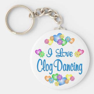 I Love Clog Dancing Key Ring