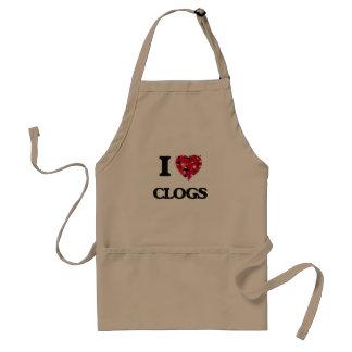 I love Clogs Standard Apron