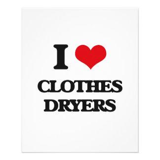 I love Clothes Dryers 11.5 Cm X 14 Cm Flyer