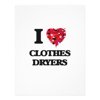 I love Clothes Dryers 21.5 Cm X 28 Cm Flyer