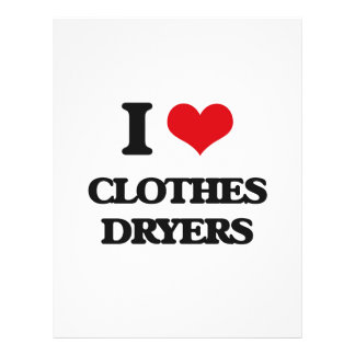 I love Clothes Dryers Custom Flyer