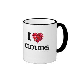 I love Clouds Ringer Mug
