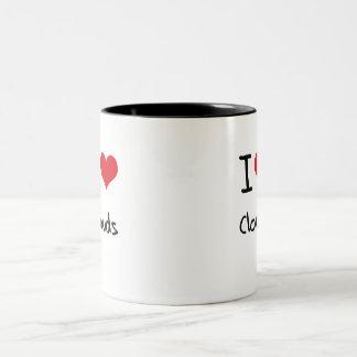 I love Clouds Two-Tone Mug