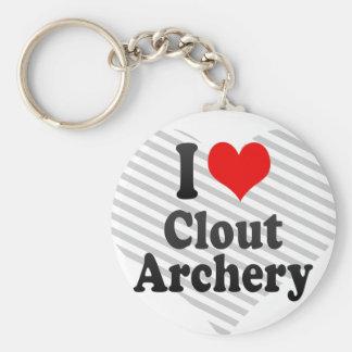 I love Clout Archery Key Ring