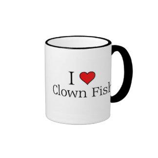 I love clown fish ringer mug