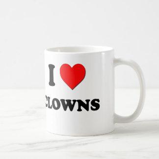 I love Clowns Basic White Mug