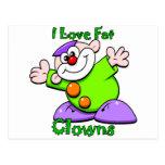 I love Clowns Postcards
