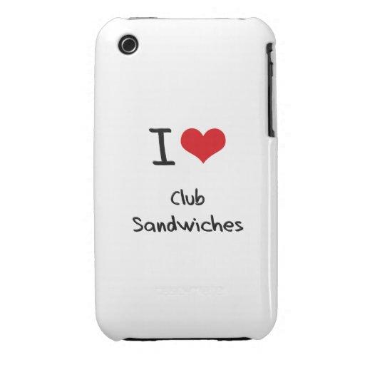 I love Club Sandwiches iPhone 3 Case-Mate Case